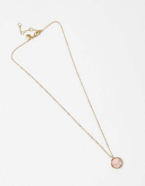 Rose Quartz Constellation Necklace - Pisces, , large