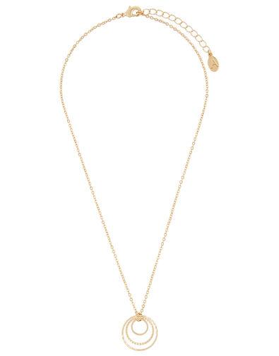 Circle Trio Pendant Necklace, , large