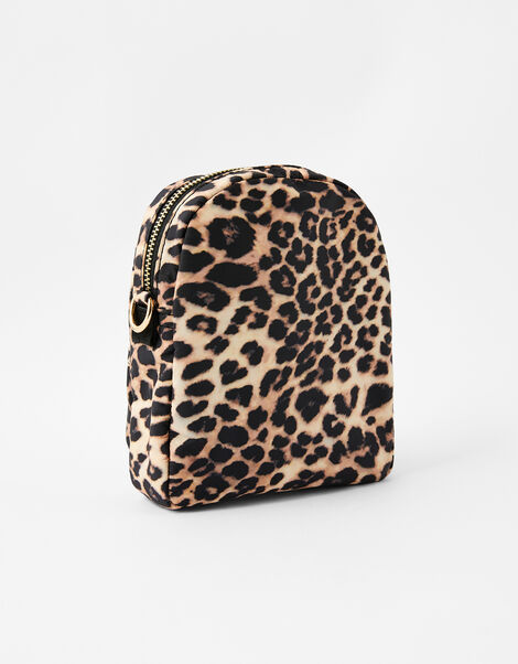 Leopard Print Cross-Body Bag, , large