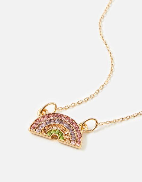Colour Pop Ditsy Rainbow Necklace, , large
