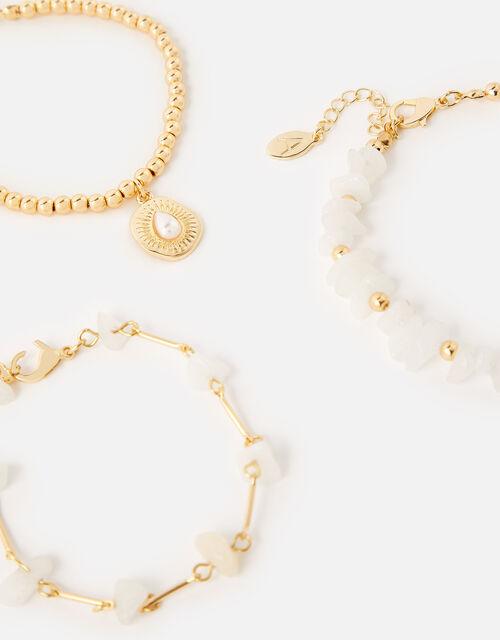 St Ives Coastal Pearly Bracelet Set , , large