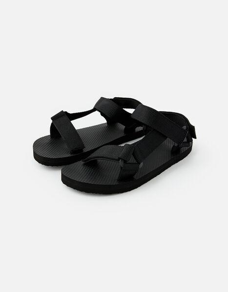 Strappy Sandals Black, Black (BLACK), large