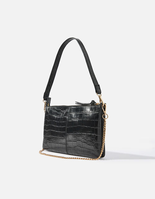 Small Chain Leather Shoulder Bag, , large