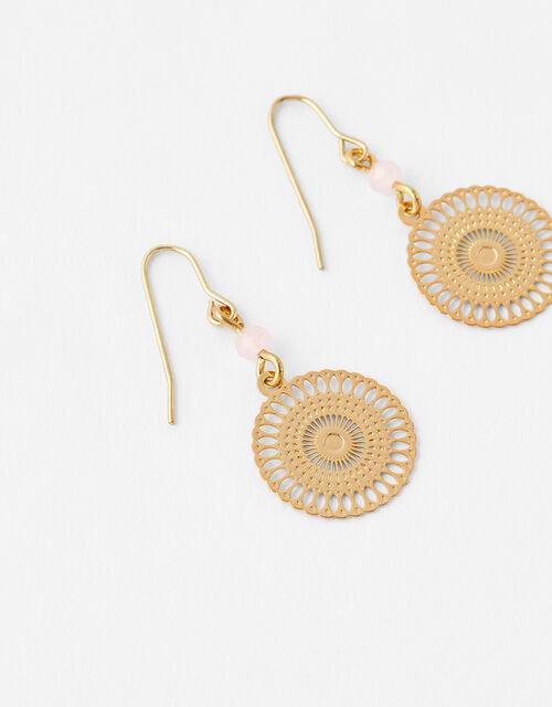 Bead and Filigree Drop Earrings, , large