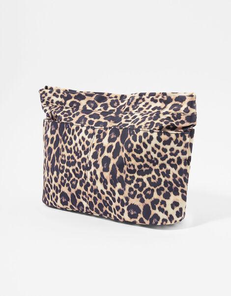 Leopard Zip-Top Bag Organiser, , large