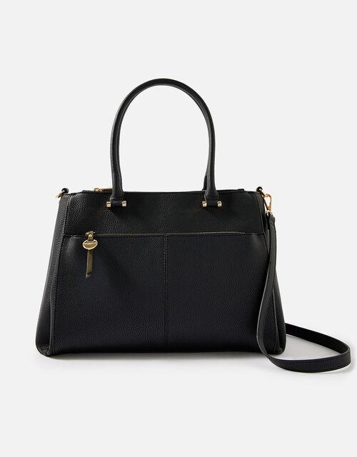 Mariah Work Tote Bag , Black (BLACK), large