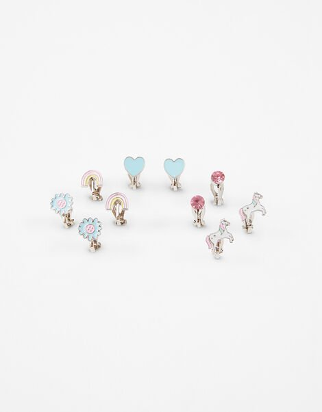 Unicorn Clip-On Earring Set, , large