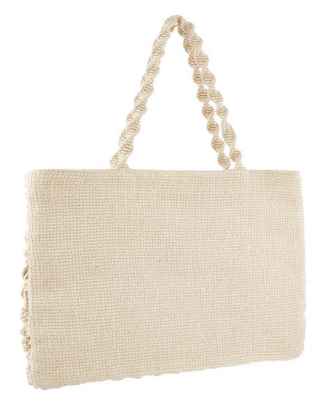 Macrame Shopper Bag, , large