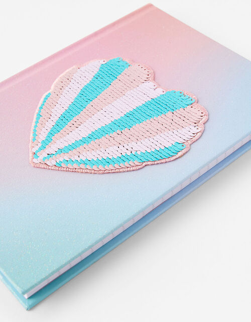 Sequin Shell Notebook, , large