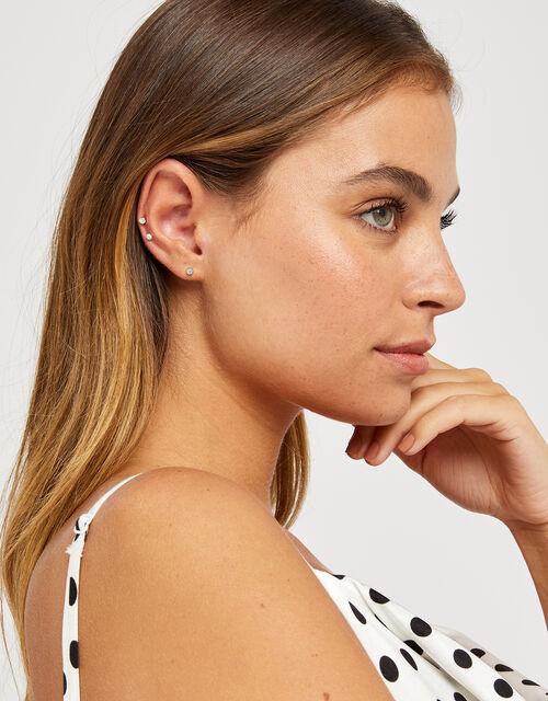 15x Multi Stone Stud Earrings Pack, Multi (PASTEL-MULTI), large