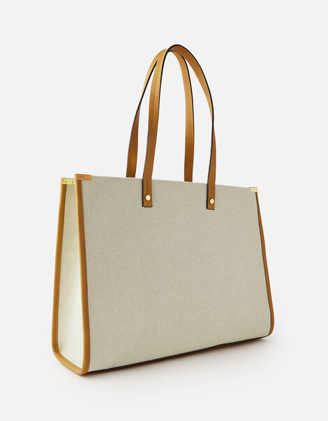 Structured Tote Bag with Coin Purse, , large
