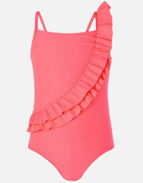 Neon Frill Swimsuit, Pink (PINK), large