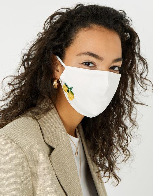 Embellished Lemon Face Covering , , large