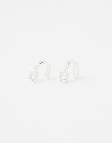 Sterling Silver Sparkle Ear Cuff Set, , large
