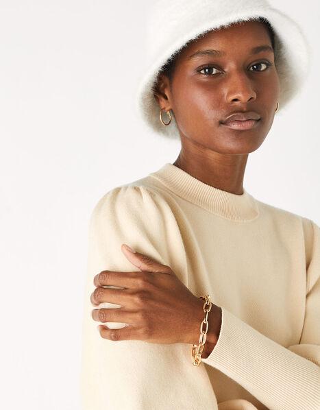 Simple Medium Chain Bracelet Gold, Gold (GOLD), large