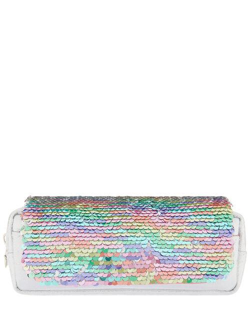 Reversible Rainbow Sequin Pencil Case, , large