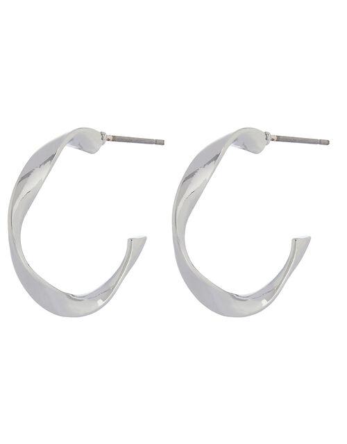 Small Twist Hoop Earrings, , large