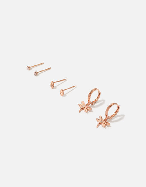 Dragonfly Stud and Hoop Set, , large