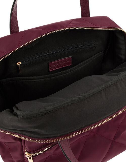Emmy Vegan Quilted Backpack, , large