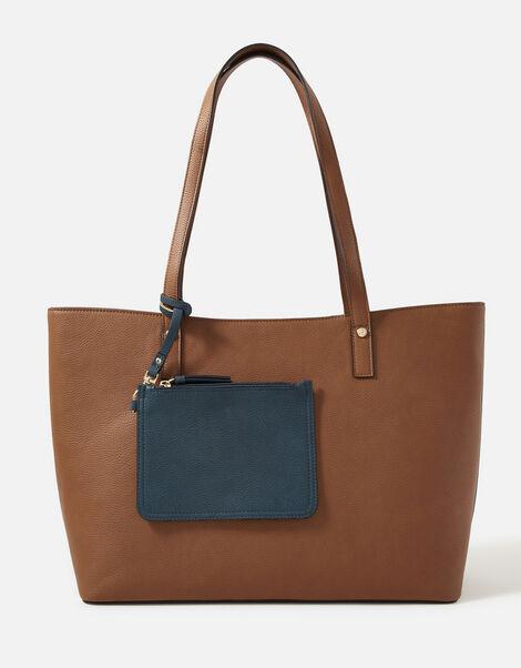 Toni Tote Bag with Pouch Tan, Tan (TAN), large