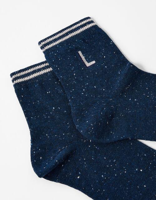 Initial Ankle Socks - L, , large