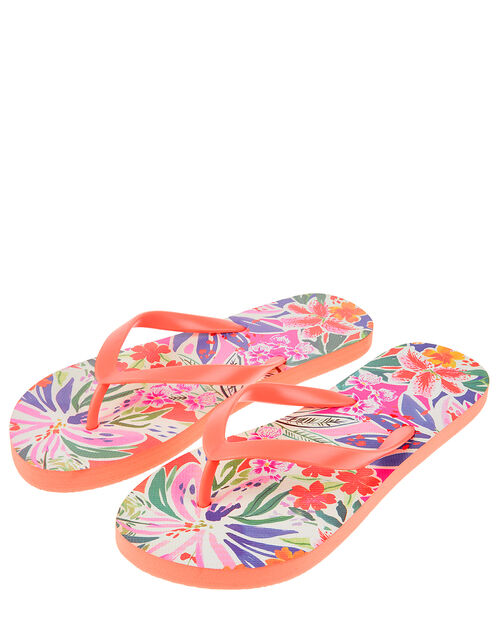 Painterly Floral EVA Flip Flops, Multi (BRIGHTS-MULTI), large