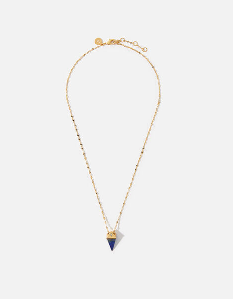 Healing Stones Gold-Plated Necklace - Lapis, , large