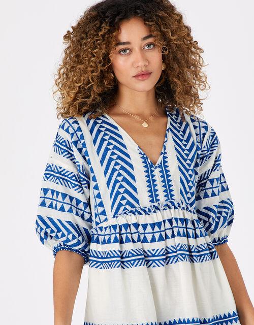 Jacquard Dress, Blue (BLUE), large
