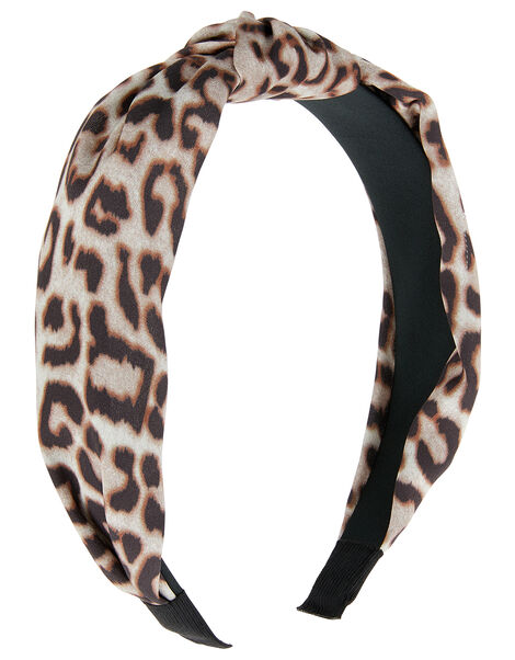 Leopard Print Alice Hair Band, , large