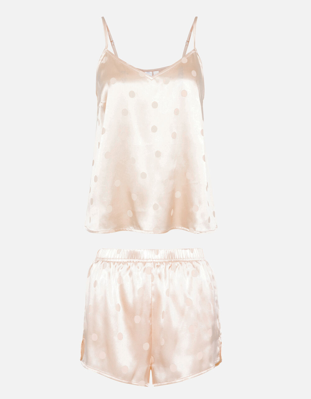 Spot Jacquard Pyjama Set, Nude (NUDE), large