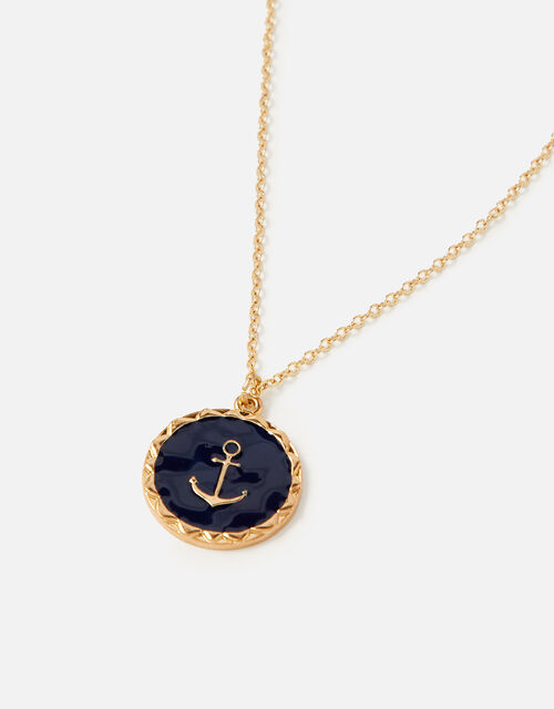 St Ives Anchor Necklace with Recycled Metal, , large