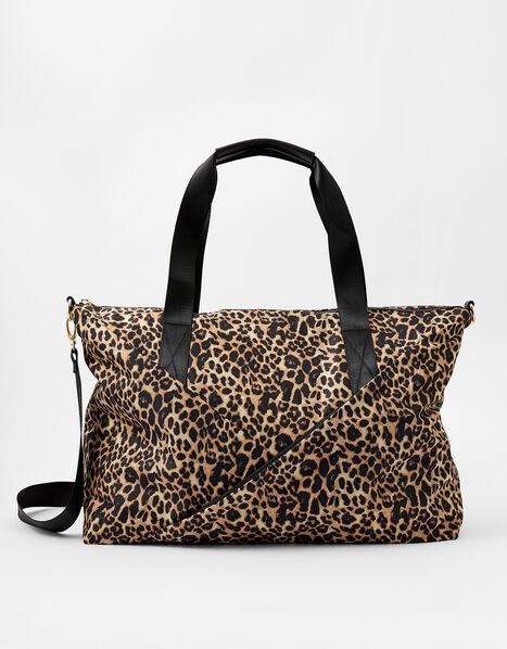 Robyn Leopard Print Weekend Bag, , large
