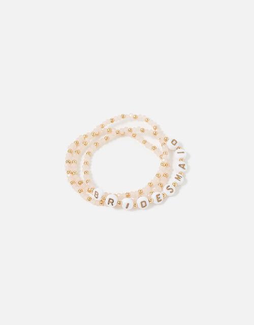 Bridesmaid Beaded Bracelet Set, , large