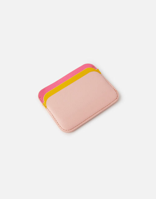 Curve Colour-Block Card Holder , Pink (PINK), large