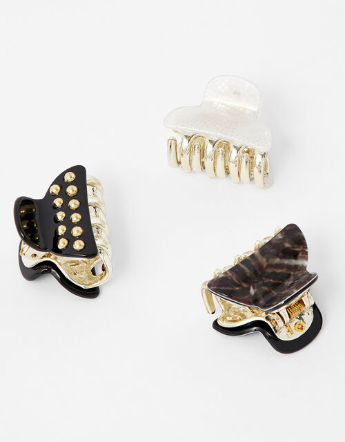 Studded Mini Bulldog Clip Set, , large