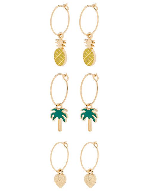 Summer Mini Hoop Earring Set, , large