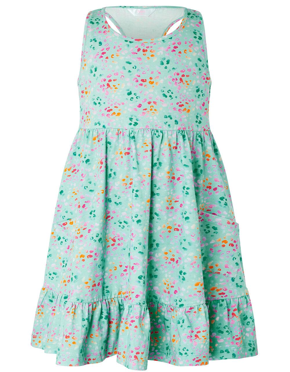Ombre Animal Print Jersey Dress, Multi (BRIGHTS-MULTI), large