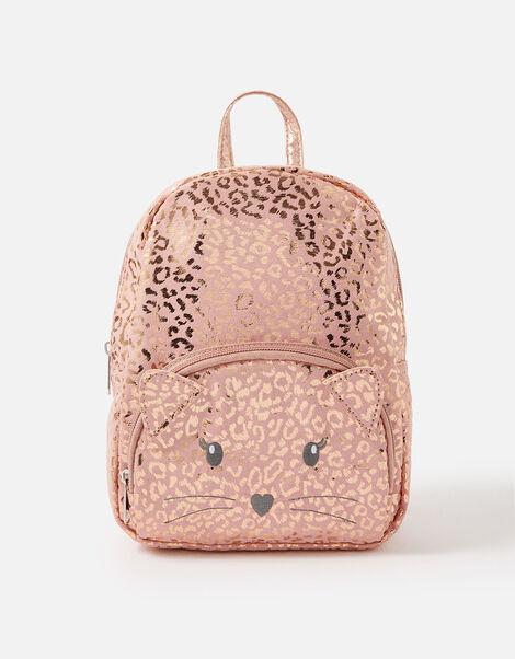 Cat Leopard Print Backpack , , large