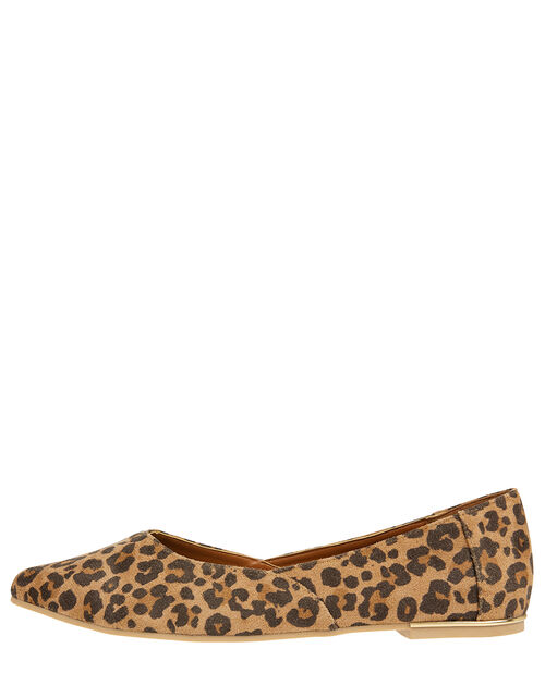 Pointed Ballerina Flats, Leopard (LEOPARD), large