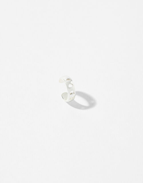 Sterling Silver Moon Phase Ear Cuff, , large