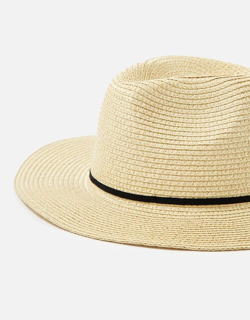 Packable Panama Trilby Hat , Natural (NATURAL), large