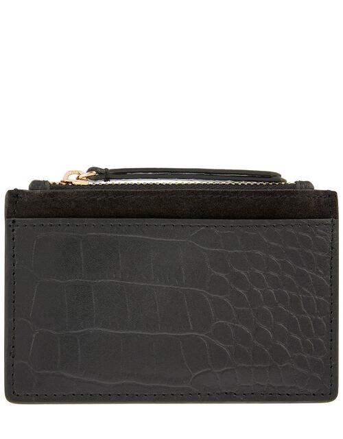 Shoreditch Croc Effect Leather Card Holder, , large