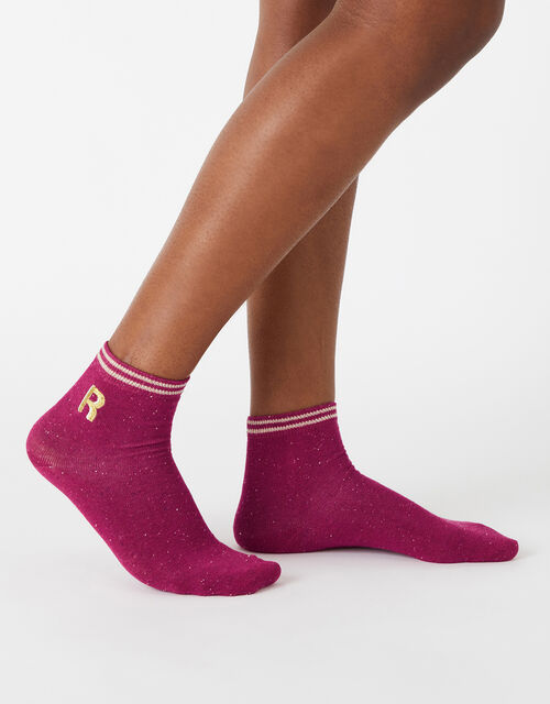 Initial Ankle Socks - R, , large