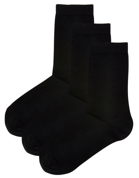 Super-Soft Bamboo Ankle Sock Multipack, , large