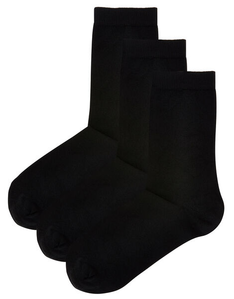 Super-Soft Bamboo Ankle Sock Multipack, , large