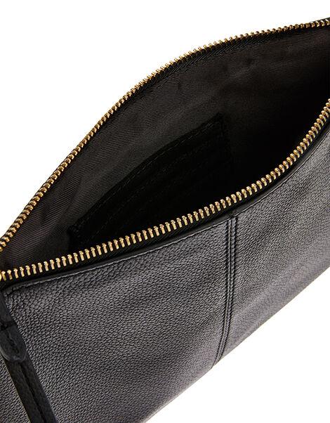 Carmela Leather Cross Body Bag Black, Black (BLACK), large