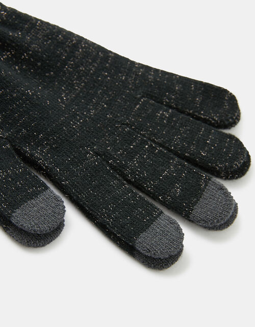 Shimmer Knit Touchscreen Gloves, Grey (GREY), large