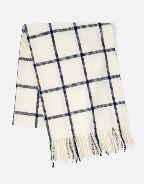 Carter Window Pane Check Blanket Scarf, , large