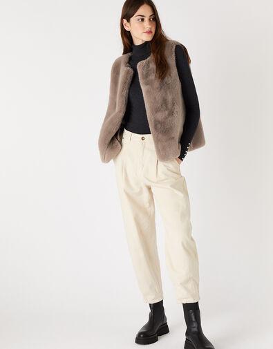 Luxe Faux Fur Gilet, , large