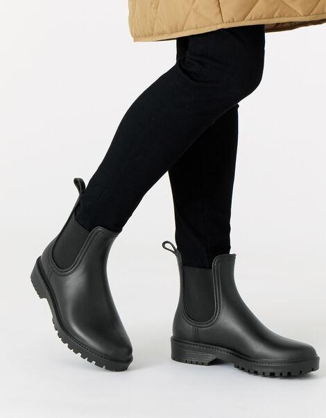 Chelsea Rain Boots Black, Black (BLACK), large